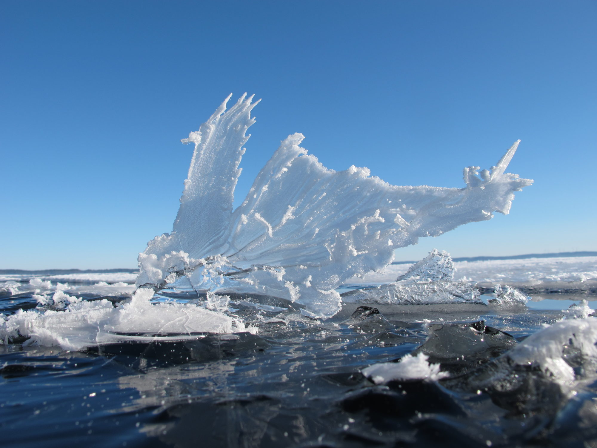Incredible ice formation