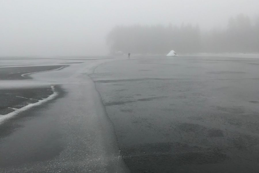 skating in the mist