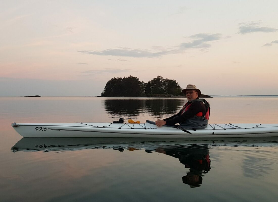 Peaceful rest in kayak