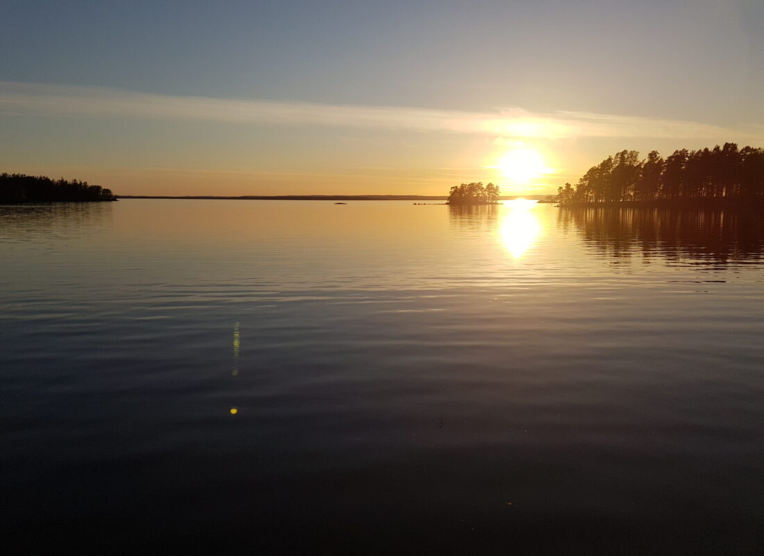 Sunset - lake Vättern, Sweden